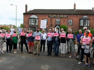 Earlier this year Much Wenlock residents held a protest over the plans