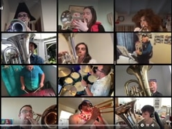 Brass band raising the roof for friend after heart and lung transplant