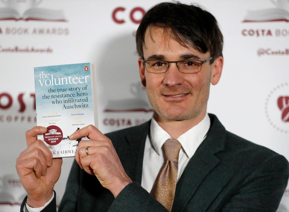 Fairweather awarded Costa Book of the Year for 'The Volunteer'
