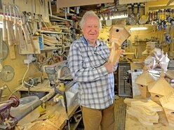 Sales fly high for Oswestry pensioner's woodwork in aid of Whittington Castle