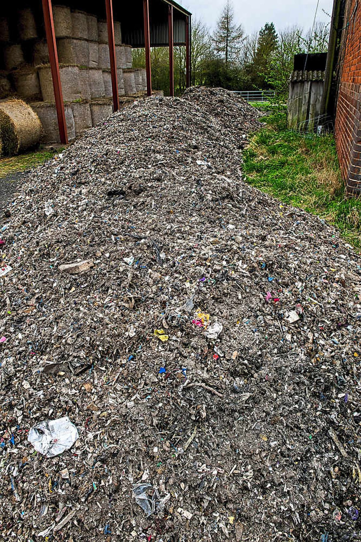 The dumped waste at Hill End Farm