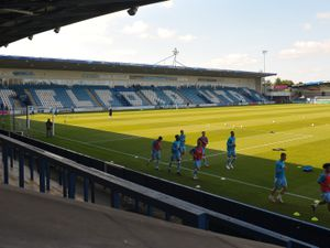 TELFORD COPYRIGHT MIKE SHERIDAN A general view of the New Bucks Head Stadium during the pre-season friendly between AFC Telford United and Notts County at the New Bucks Head on Saturday, September 19, 2020...Picture credit: Mike Sheridan/Ultrapress..MS202021-026.