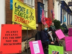 XR groups protest outside Philip Dunne's office in Ludlow