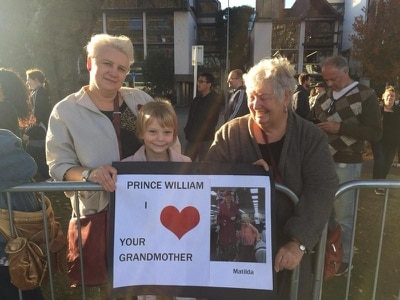 William meets five-year-old royal superfan Tilly on Christchurch walkabout
