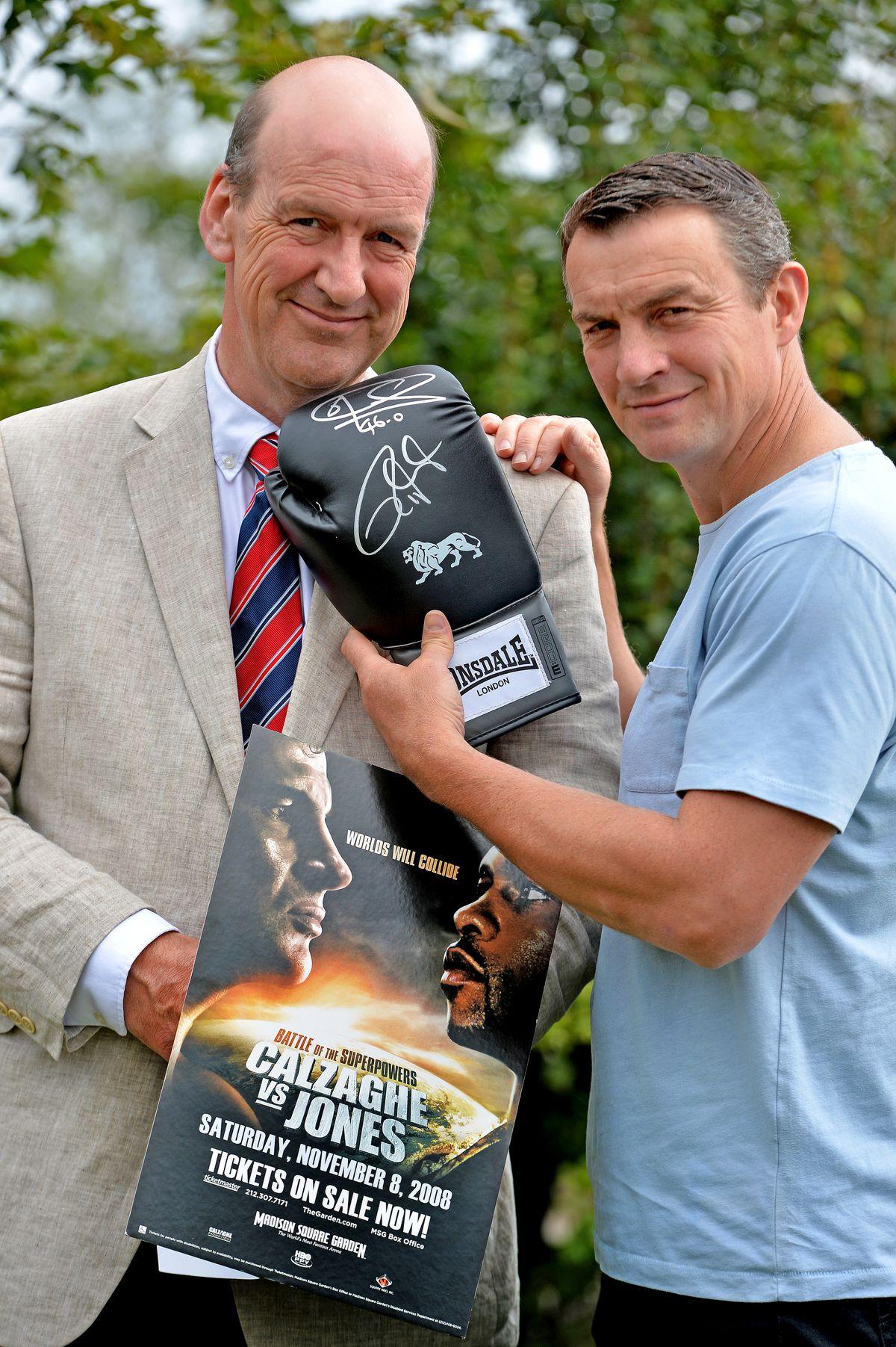 Richie with Jeremy Lamond of Halls. Halls Auctioneers, Bowmen Way, Battlefield, Shrewsbury.