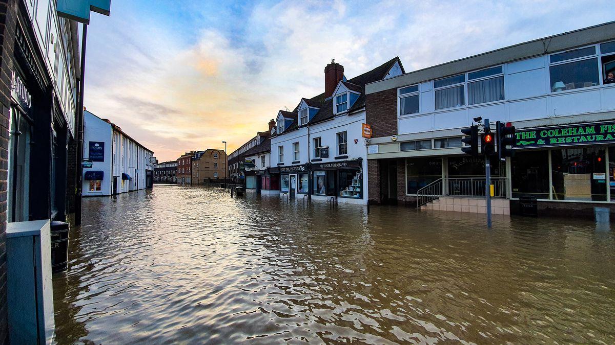 Flooding in Coleham