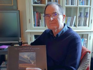 John Speake with his new book