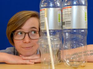 Market Drayton Library is supporting Plastic Free July. Pictured is library assistant Jessie Wolf.