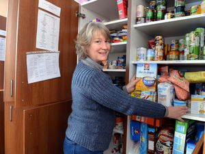 Ruth Davies, of Ludlow food bank, says she is amazed by the generosity of people