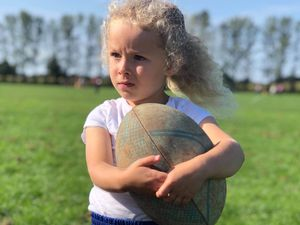 Four-year-old Phoebe Paterson of Bridgnorth Rugby Club