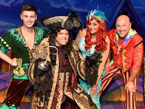 Panto stars fly into Birmingham to launch Peter Pan - with pictures