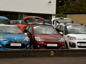 New used car sales stock