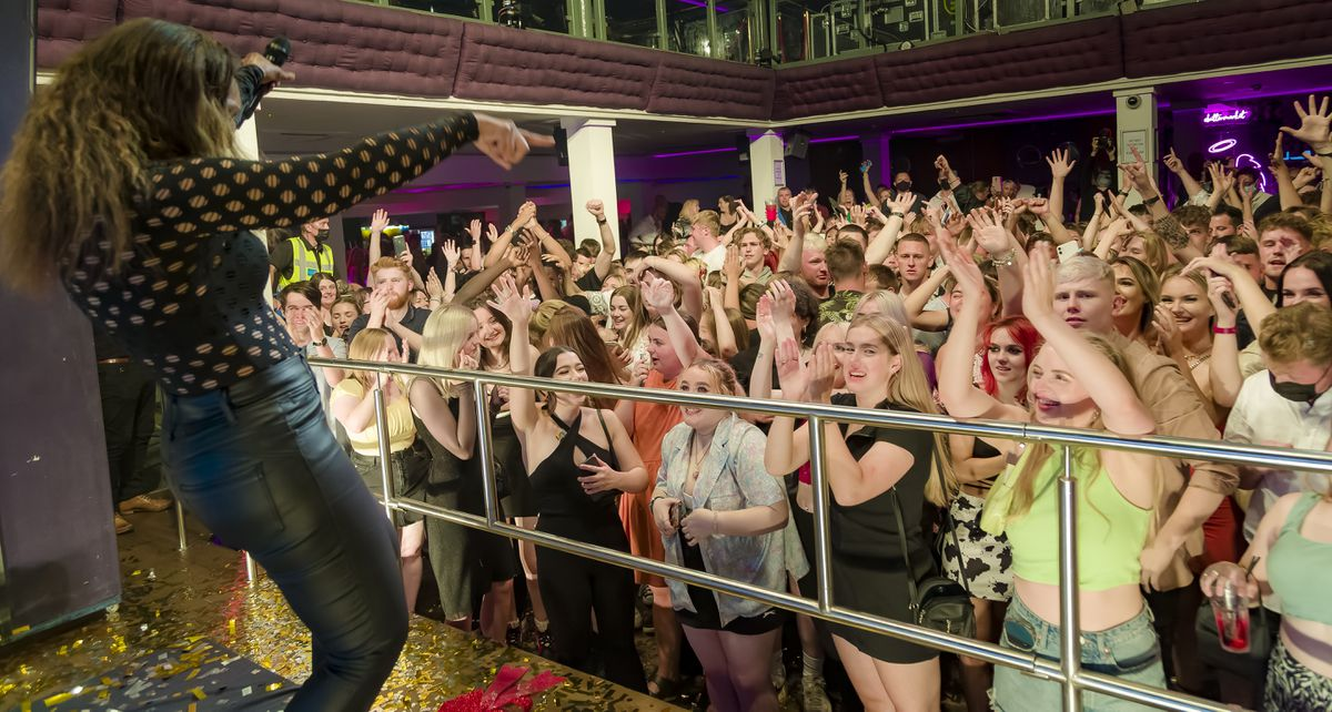 Revellers filled the dance floor in seconds. Pictures: Clive Padden