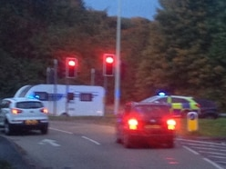 Driver arrested as 'stolen caravan' causes Telford congestion