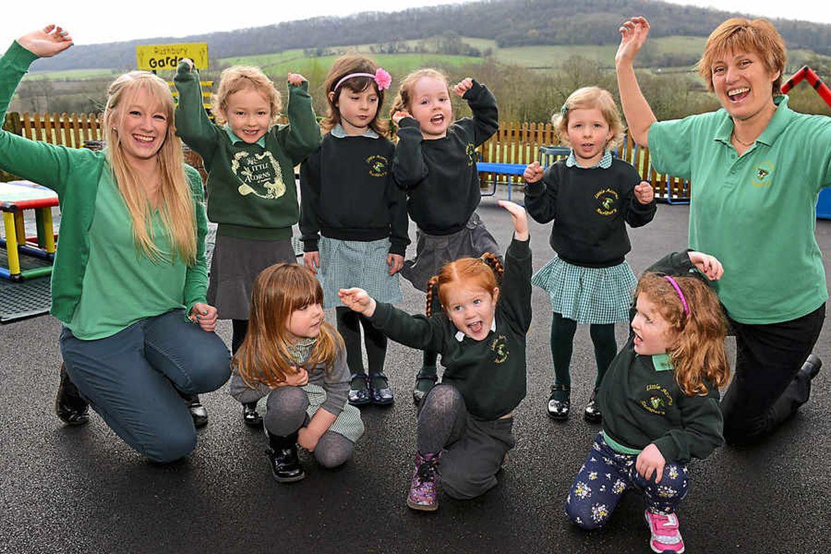 Celebrations at 'outstanding' Shropshire pre-school nursery