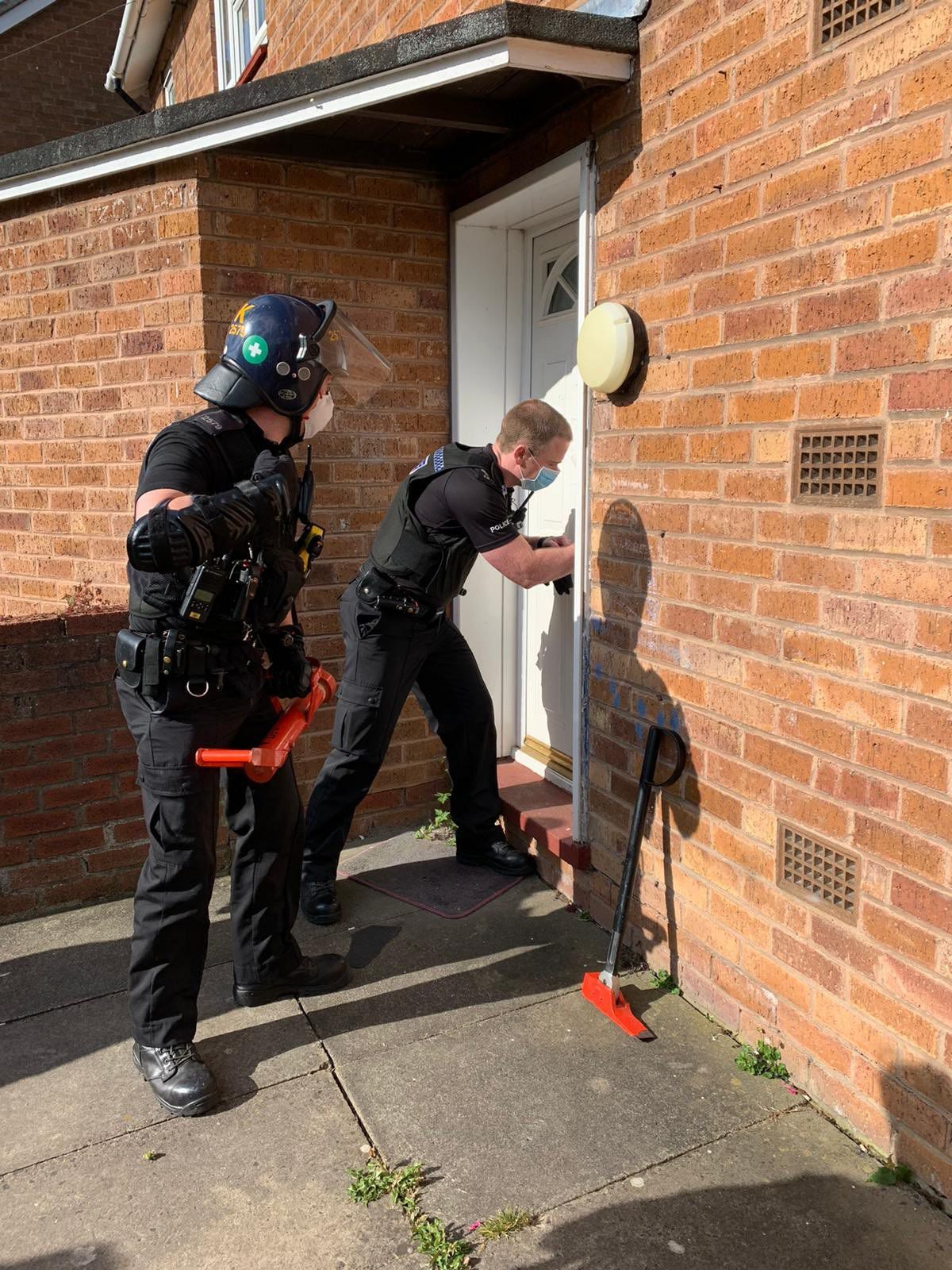 Police made an arrest after a drugs bust in Shrewsbury. Picture: Insp Saf Ali