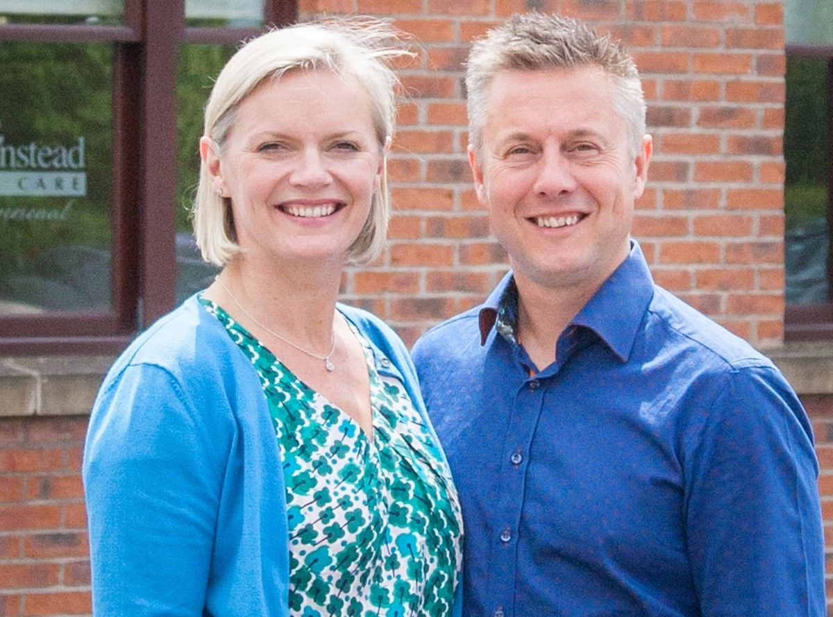 Jenny and Jason Warren, owners of Home Instead Telford, Bridgnorth, Market Drayton and Newport