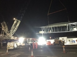 One more lift to go for Telford footbridge