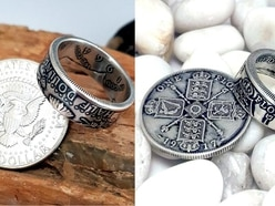 Meet the mastermind behind these incredible rings made from coins