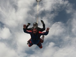 'The most frightening thing I've ever done': Shrewsbury's mayor soars through skies in fundraiser