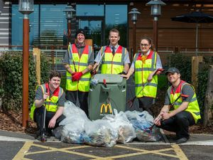 McDonald's clean-up Shropshire