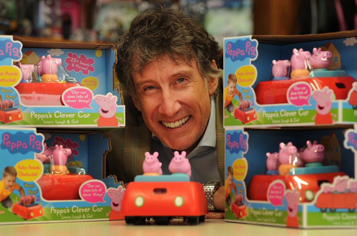 Founder and CEO Richard North with the new Peppa Pig Clever Car, at Wow! Stuff, Wolverhampton