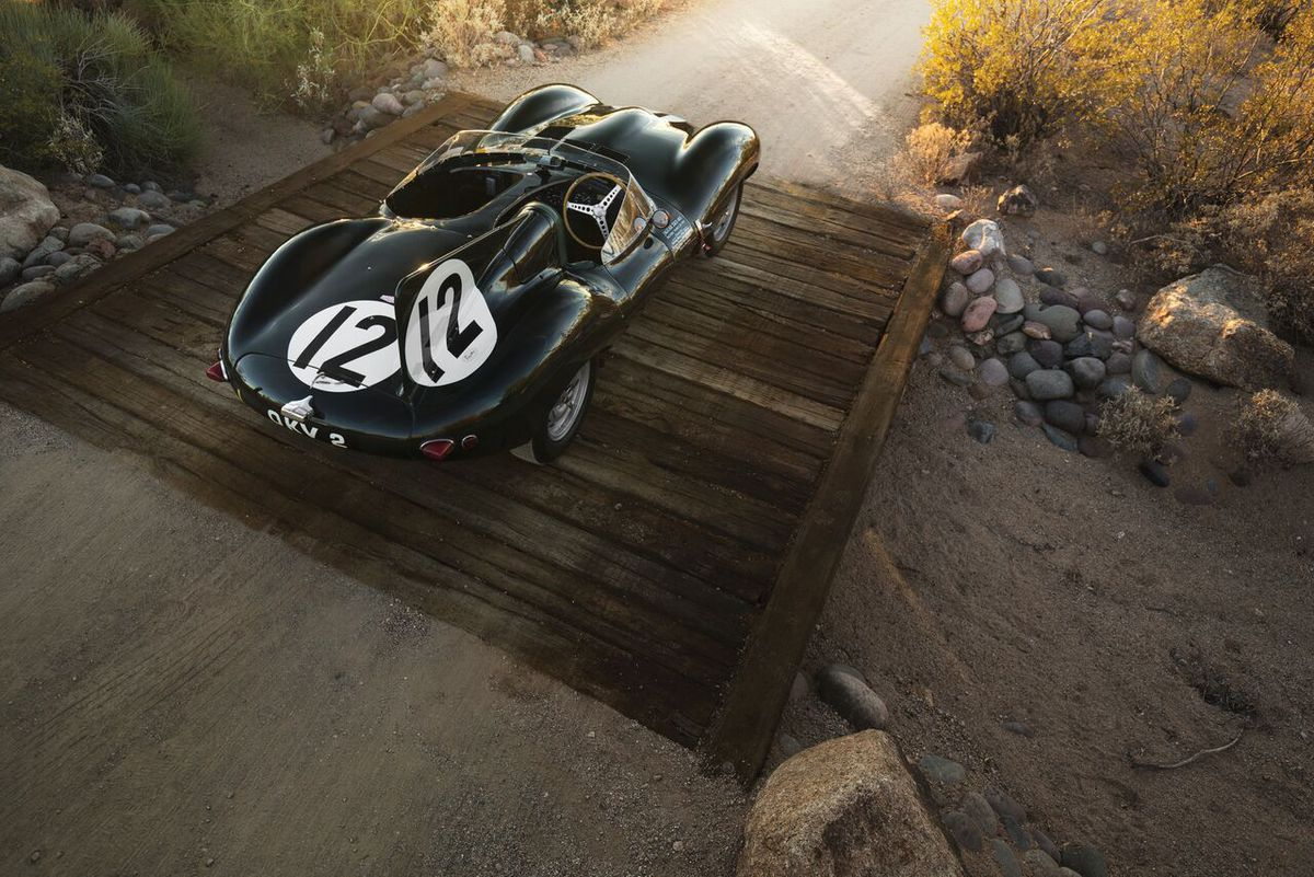 The Jaguar D-Type driven by Stirling Moss and Norman Dewis. Picture credit: Patrick Ernzen © 2017 Courtesy of RM Sotheby's
