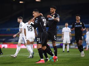 Aston Villa's Anwar El Ghazi celebrates scoring
