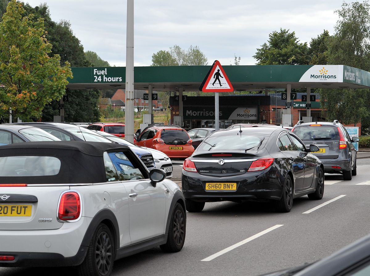 Queues at petrol stations have become a common sight