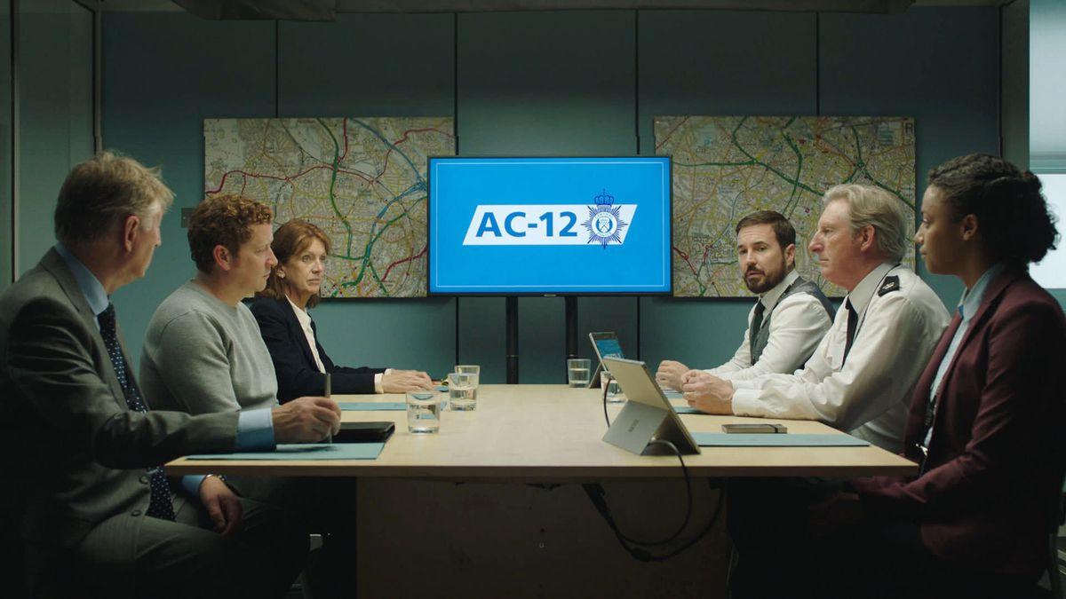 DCI Ian Buckells, played by Nigel Boyle, is interrogated