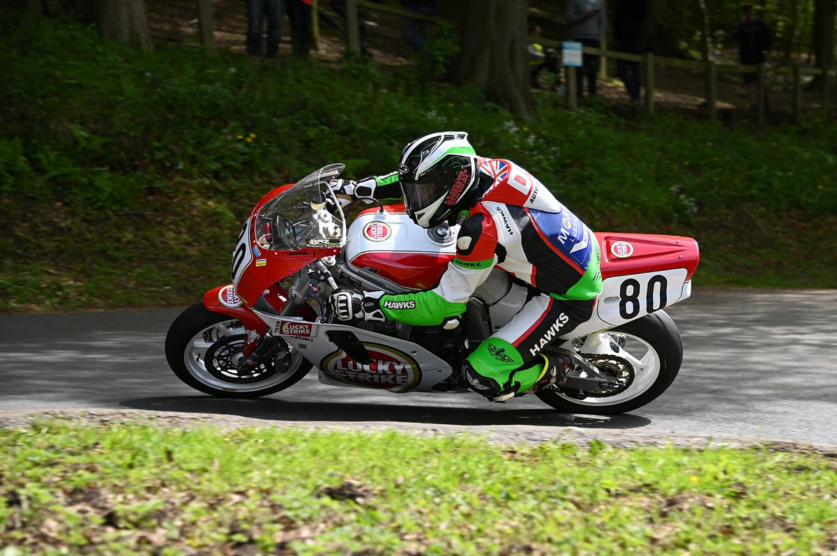 Furber came seventh and sixth in the Classic Superbike class. Picture: ottpix@btinternet.com