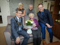 Peggy, 92, moves back to home town as first resident of new care home