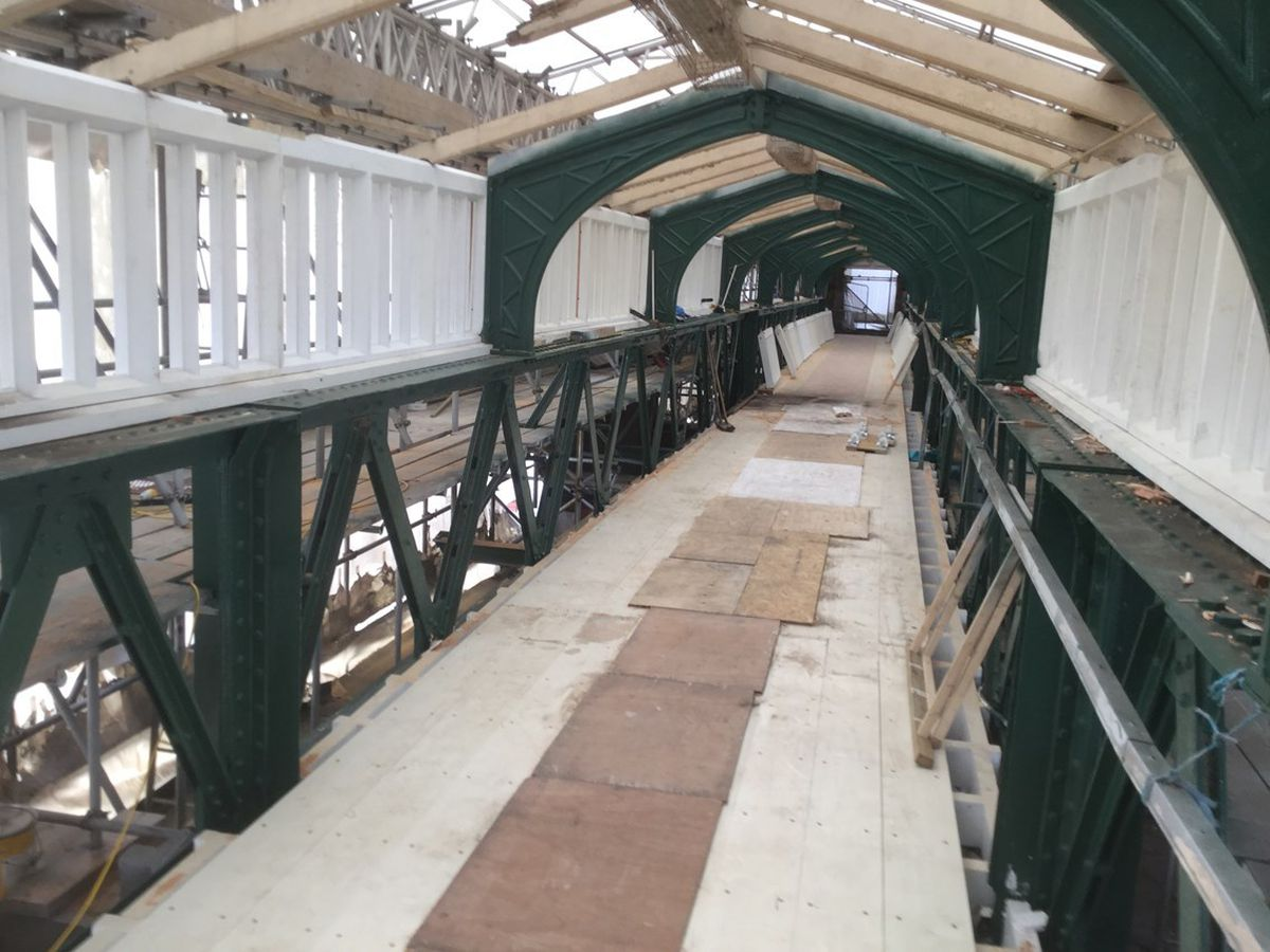 Network Rail teams have been carrying out essential work at Shrewsbury station