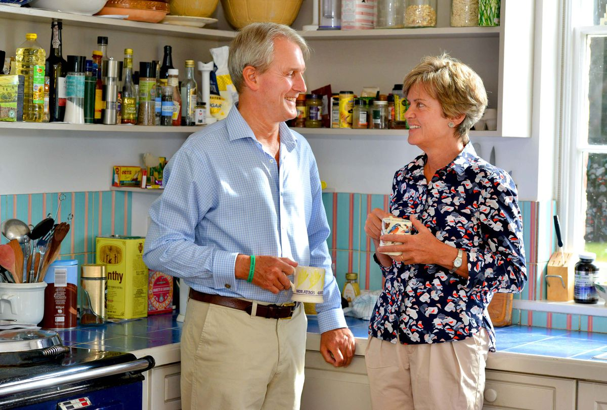 Owen and Rose Paterson pictured at home in 2018