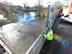 Flood barriers to stay up by River Severn in Shrewsbury as thaw continues