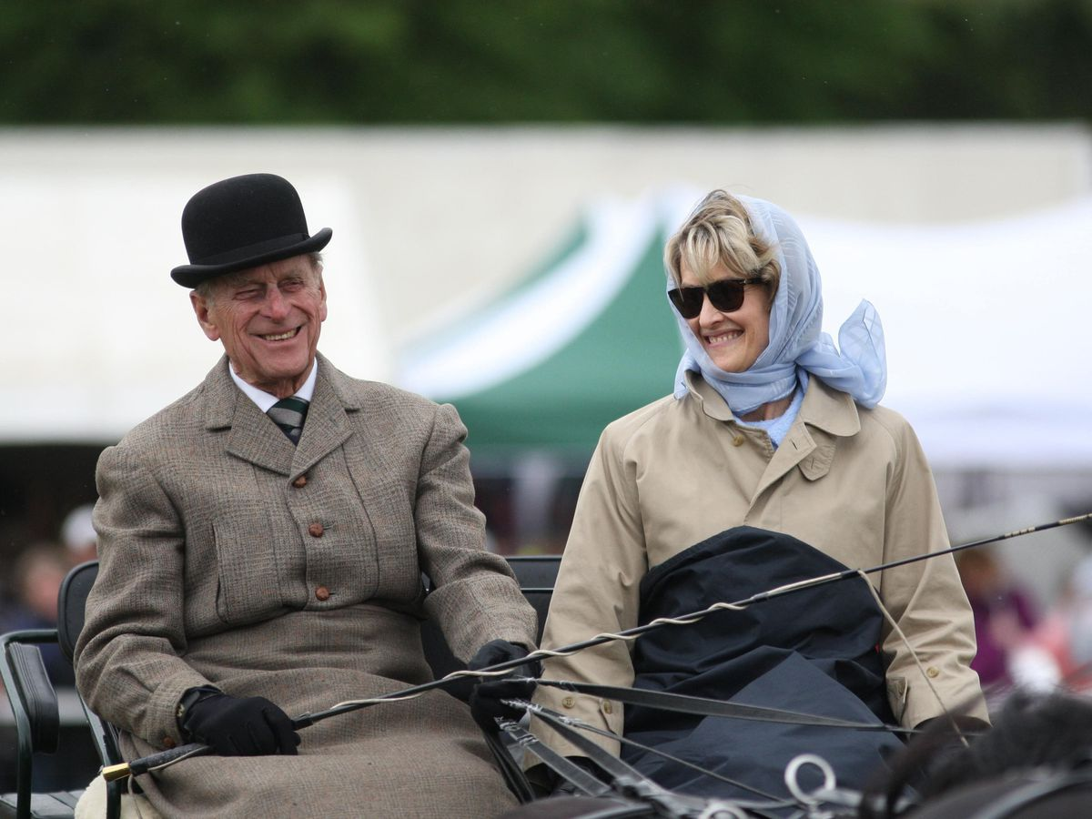 The Duke of Edinburgh with Lady Brabourne, now Countess Mountbatten of Burma