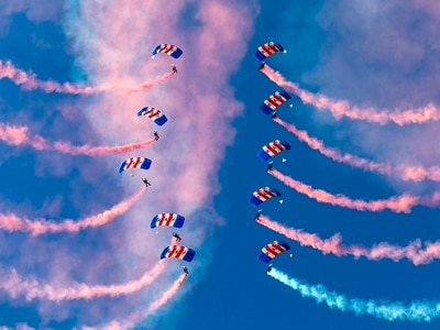 RAF Falcons to open Cosford Air Show 2018