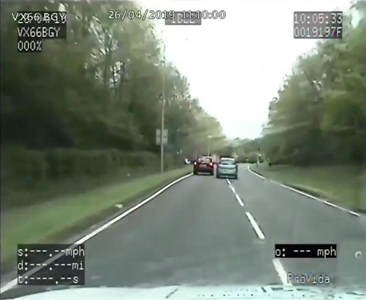 Sanderson overtook traffic and drove the wrong way around blind bends