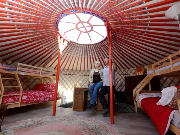 Glamping venue couple in TV adventure