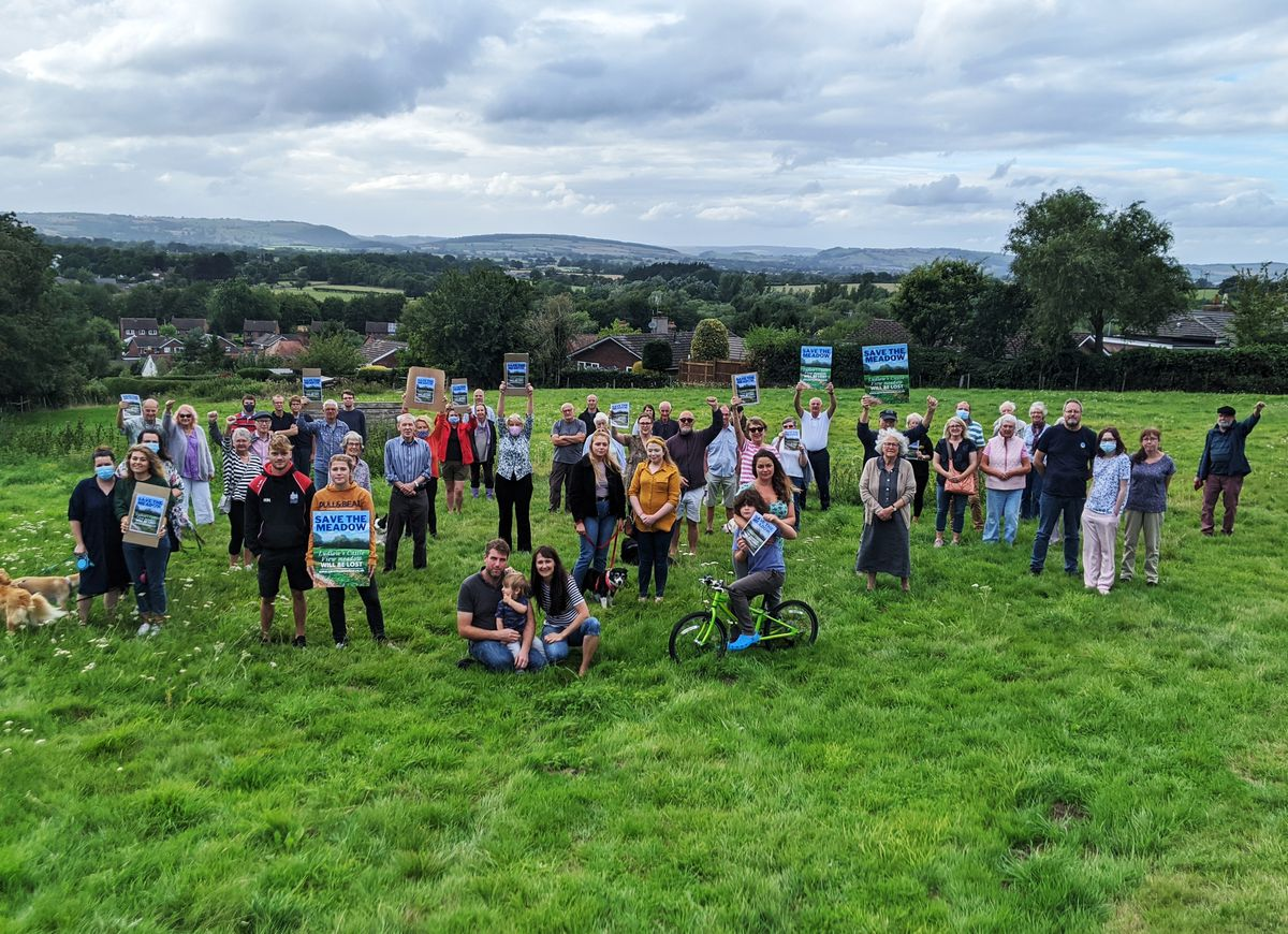 Town residents oppose the meadow development