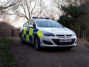 Police at Haycop Nature Reserve in Broseley. Photo: @WenlockCops