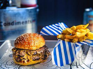 Libertine burger and fries