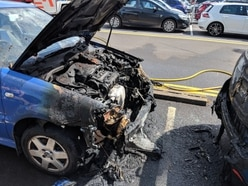 Three cars damaged in Telford car park blaze - with pictures
