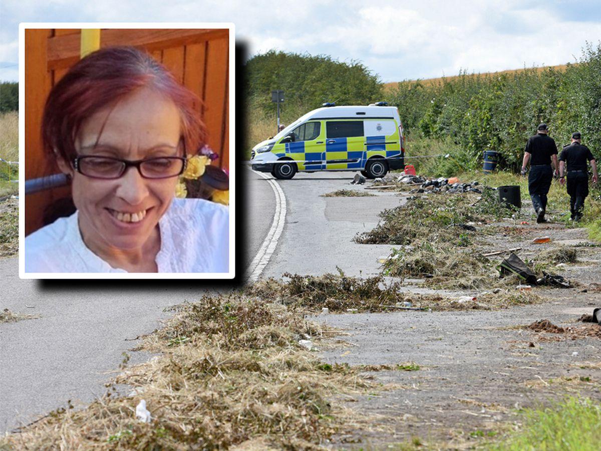 Police at the scene on Bridgnorth Road where Jomaa Jerrare, inset, was found