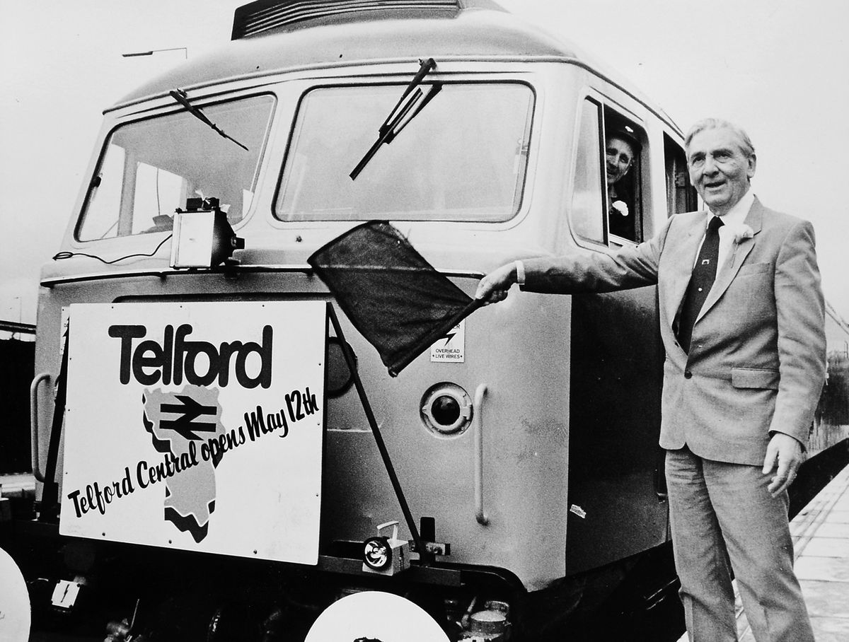 Lord Murray opens Telford railway station on May 12, 1986