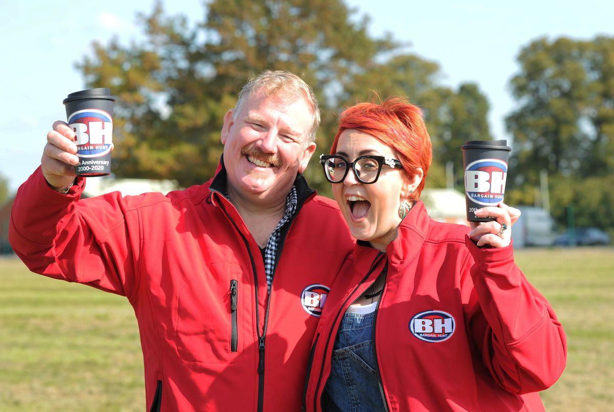 The red team: Philip Latham and Nikki Latham, of Cheshire