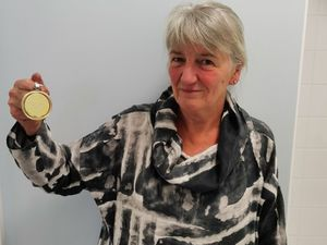Professor Sally Roberts with her medal
