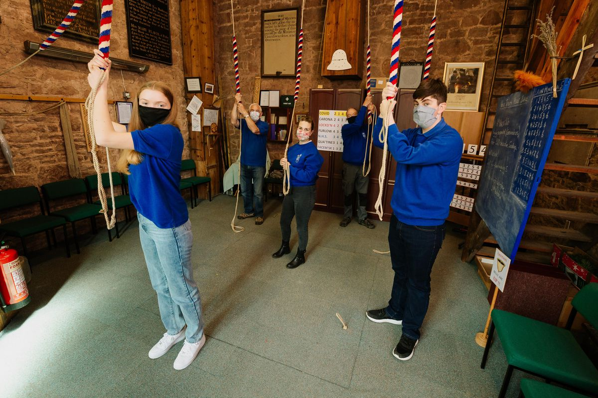 Youngsters will ring the bells of Trinity Church in Meole Brace, Shrewsbury on Saturday 17th April for Prince Philips' Funeral
