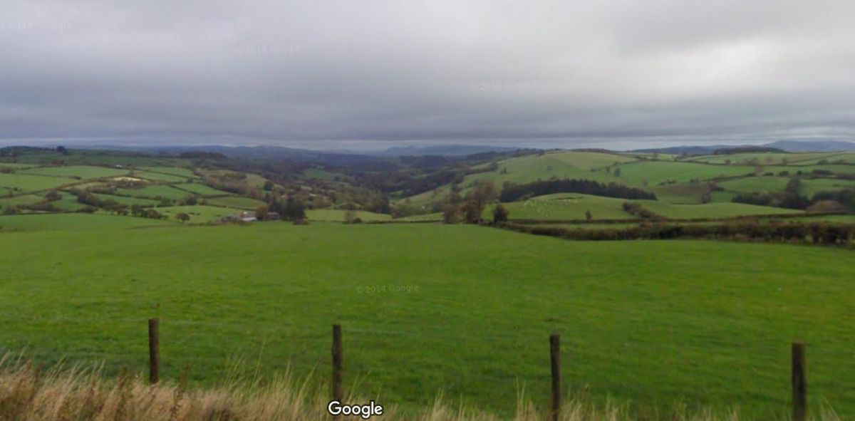 Cwm Mule from the roadside near where the holiday cabin site is. Picture from Google Streetview