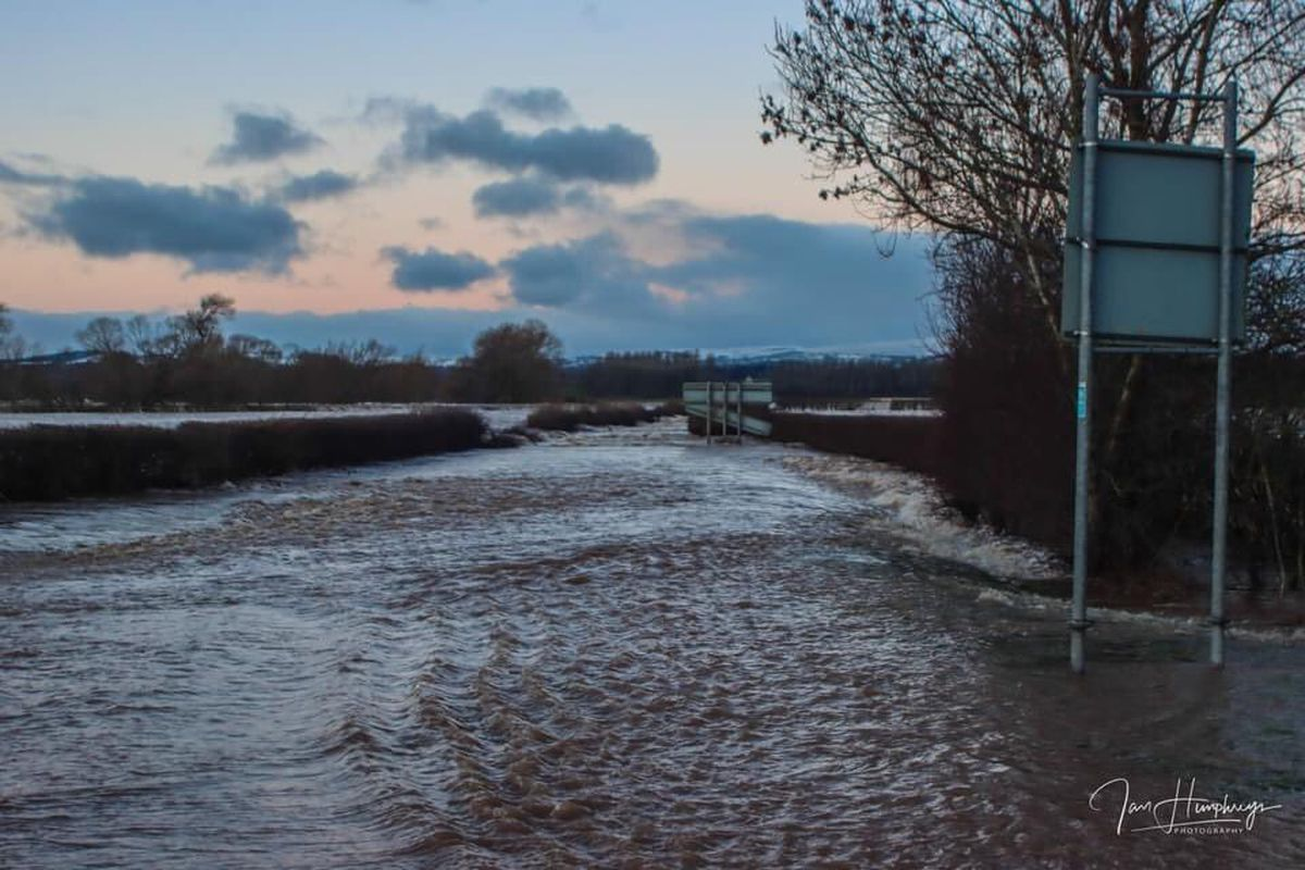 Flooding in Bangor-on-Dee in January when homes were evacuated. Photo: Ian Humphreys.